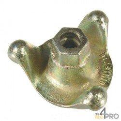 Ecrou à oreilles Ø15/17 mm - base 65 mm