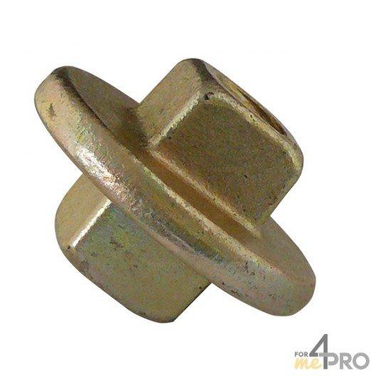Ecrou carré double Ø20/23 mm