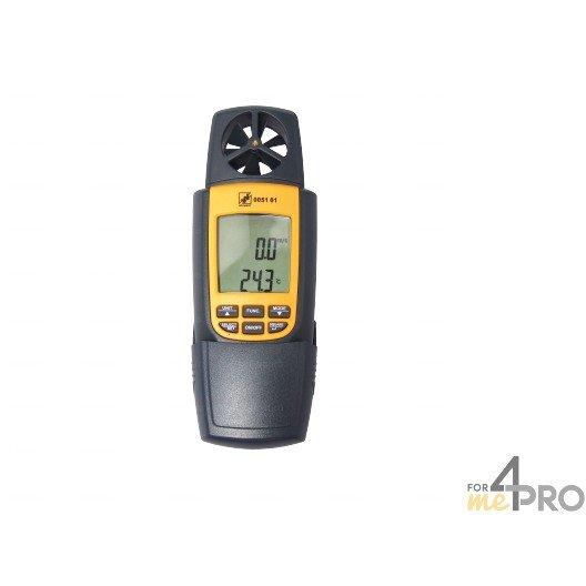 Anémomètre, Thermomètre et Débit d'air - 3 en 1
