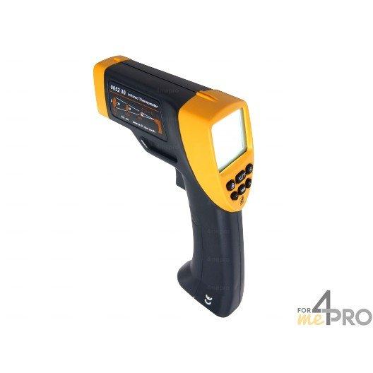Thermomètre infrarouge à visée laser et émissivité réglable -20°C à +530°C