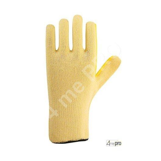 Gants anti-coupure haute résistance à la chaleur - support composite jaune - normes EN 388 454x / EN 407 x2xxxx
