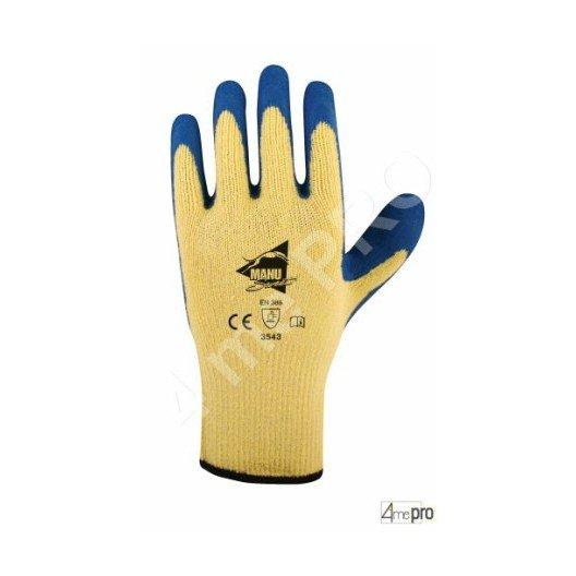 Gants anti-coupure latex bleu top adhérence - norme EN 388 3543