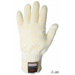 Gants anti-coupure doublés coton - haute résistance chaleur - normes EN 388 454x / EN 407 x2xxxx