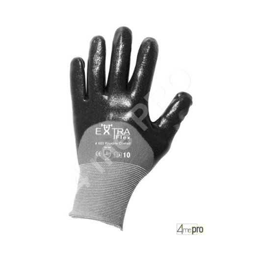 Gants manutention - nitrile HCT noir sur support nylon - norme EN 388 3121