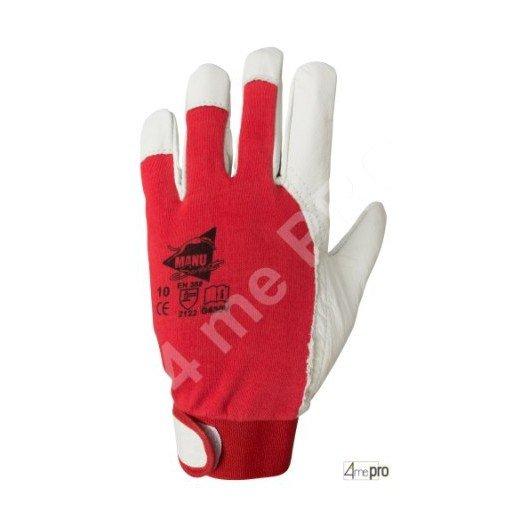 Gants de protection cuir de chèvre avec dos coton - serrage velcro - norme EN 388 2122