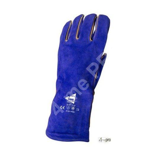 Gants soudeur résistants chaleur doublés coton - cuir bovin cousu kevlar - normes EN 388 3133 / EN 407 413x4x
