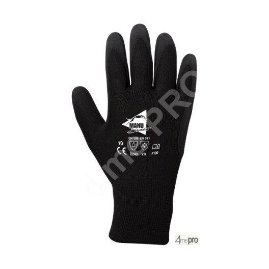 Gants résistants froid intérieur molleton - latex sur polyester - normes EN 388 2243 / EN 511 x1x