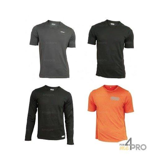 T-shirt polyester CoolDry manches courtes/longues - Taille S à XXXL