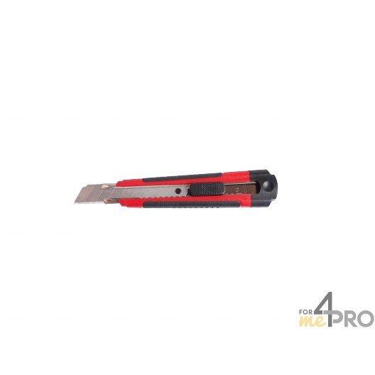 Cutter blocage automatique rouge bimatière