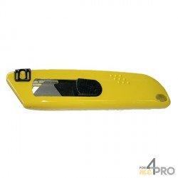 Couteau de sécurité trapèze rétractable Zamac