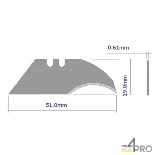 Lames serpette de rechange pour couteau de sécurité trapèze 50 mm