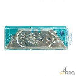 Lames cutter maxi trapèze 60 mm en distributeur 10 lames