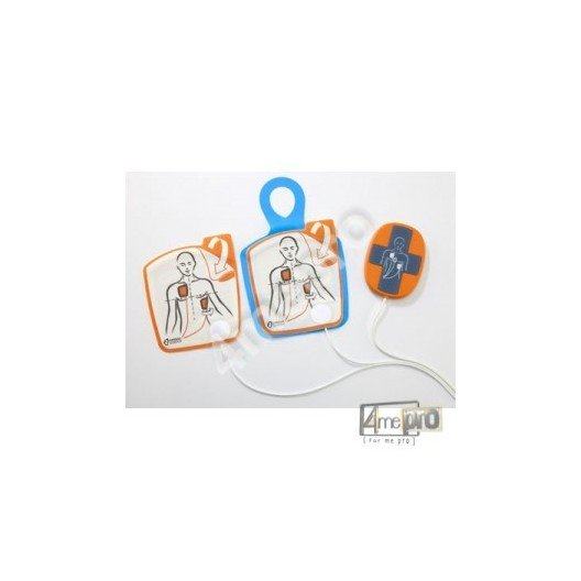 Electrodes de défibrillation adulte pour défibrillateur Powerheart G5 avec capteur RCP