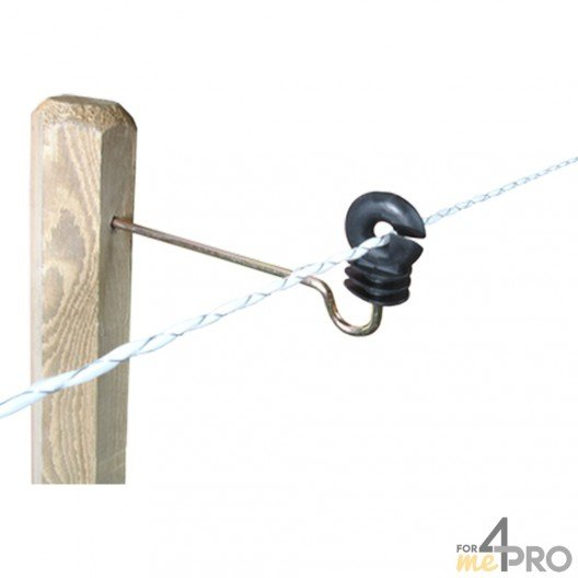 Isolateur écarteur Lacmé Annulaire Lon pour poteaux en bois - Fil jusqu'à 10 mm