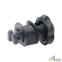 Isolateur Lacmé Isobloc pour piquets métal et PFV - Fil et cordon jusqu'à 6 mm