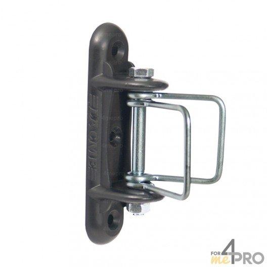 Isolateur tendeur d'angle de départ ou de fin de ligne Lacmé Iruangle - Ruban de 20 à 40 mm