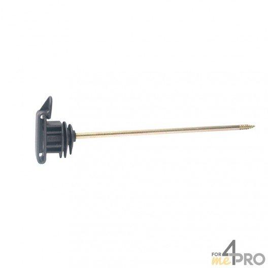 Isolateur écarteur Lacmé Iruvis Lon pour poteaux en bois - Ruban jusqu'à 40 mm