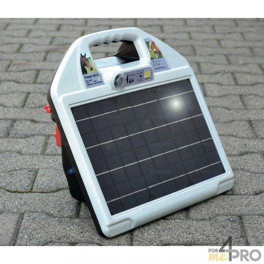 Electrificateur de clôture écologique Trapper AS70 - 12 V avec module solaire 10W