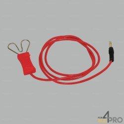 Câble de branchement avec pince coeur pour cordes, fils et rubans