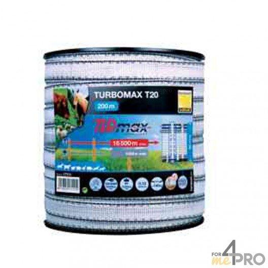 Ruban noir et blanc 200m TLD turbomax