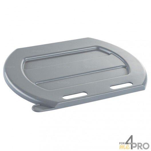 Couvercle en plastique gris pour seau à veau - lot de 10