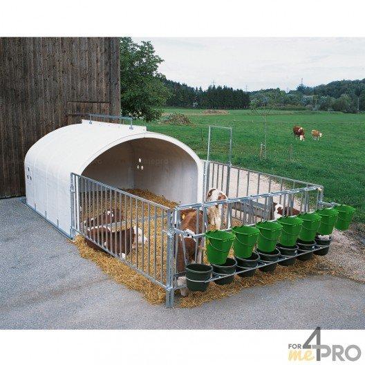 Niche à veaux 7 places avec enclos