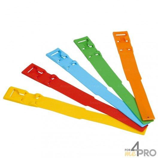 Lot de 100 bracelets de marquage en PVC