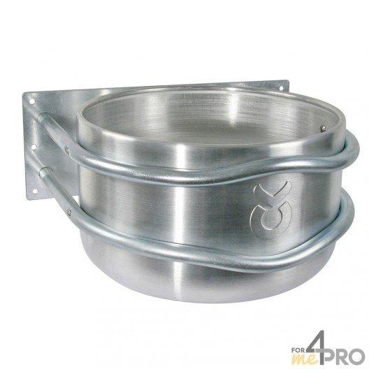 Mangeoire ronde en aluminium pour chevaux