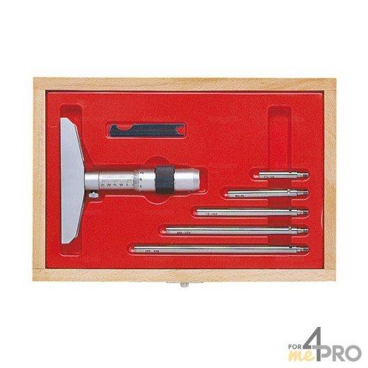 Micromètre de profondeur capacité 0-50 mm