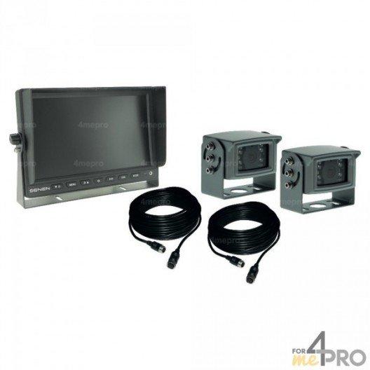 Kit caméra + écran couleur 10'' Semi-Pro