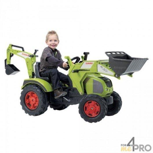 Tracteur Claas Axos avec excavatrice et chargeur