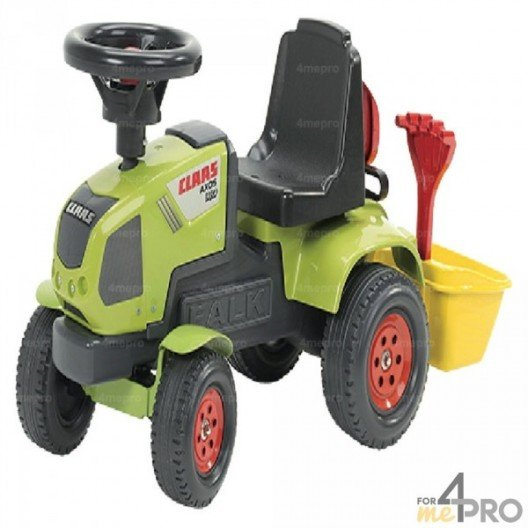 Tracteur Claas Axos avec benne
