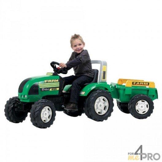 Tracteur Farm Trac avec remorque