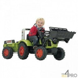 Tracteur Claas Arion 430 avec chargeur et remorque