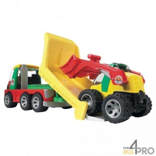 Camion benne avec mini chargeur