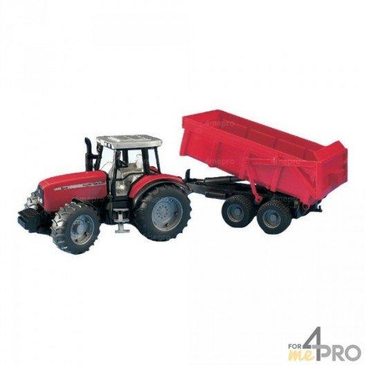Tracteur Massey Ferguson 7480 avec remorque
