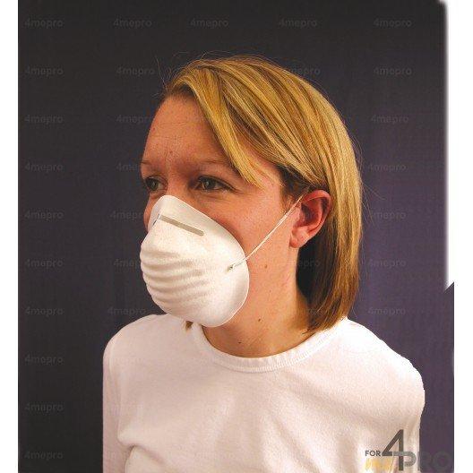 Masque coquille blanc