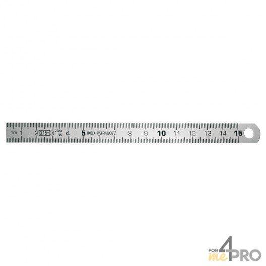 Réglet en inox CEE Classe II flexible 15 cm
