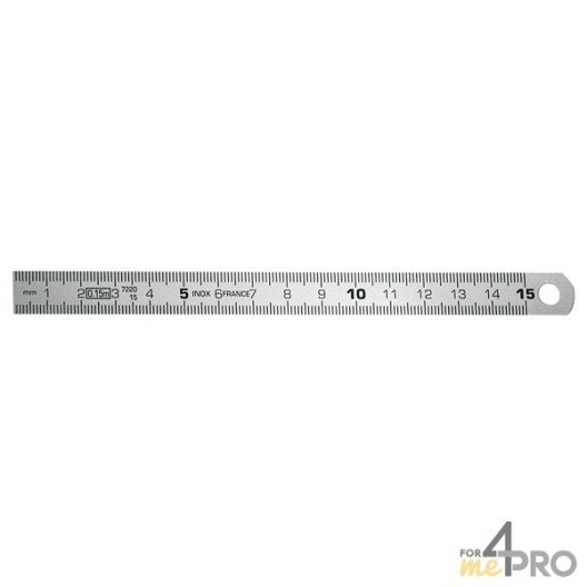 Réglet en inox CEE Classe II flexible 20 cm