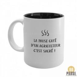"""Mug """"La pause café d'un agriculteur c'est sacré"""""""