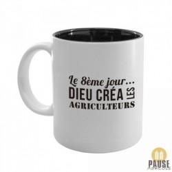 """Mug """"Le 8e jour, Dieu créa les agriculteurs"""""""