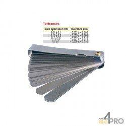 Jauges d'épaisseur rondes standard 18 lames/90mm