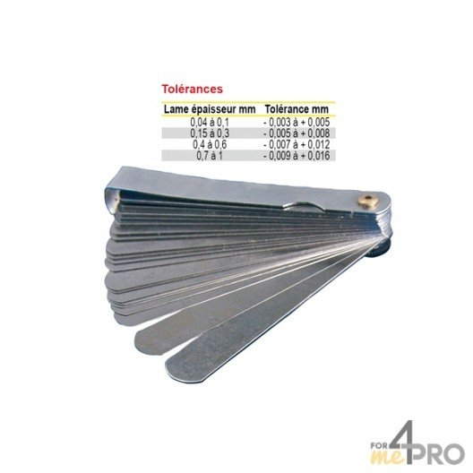 Jauges d'épaisseur rondes standard 18 lames/150mm