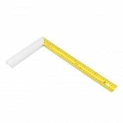 Equerre de menuisier avec lame inox jaune 40x21 cm