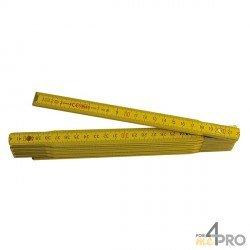 Mètre pliant 10 branches - 2m haute qualité