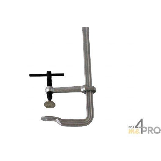Serre joint forgé avec rotule sertie et poignée acier 40 cm