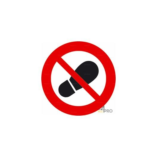 Panneau interdit de marcher à cet endroit