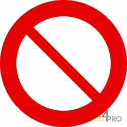 Panneau accès interdit à tous véhicules et toutes personnes