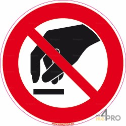 Panneau rond interdiction de toucher 2
