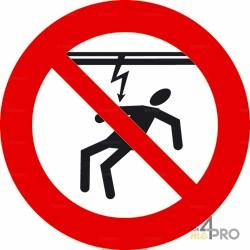 Panneau interdiction Attention courant électrique 2